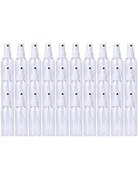 30 Pack 80ml Fine Mist Mini Clear Spray Bottles with Pump Spray Cap - for Essential Oils, Travel, Perfumes - Refillable & Reusable Empty Plastic Bottles Travel Bottle
