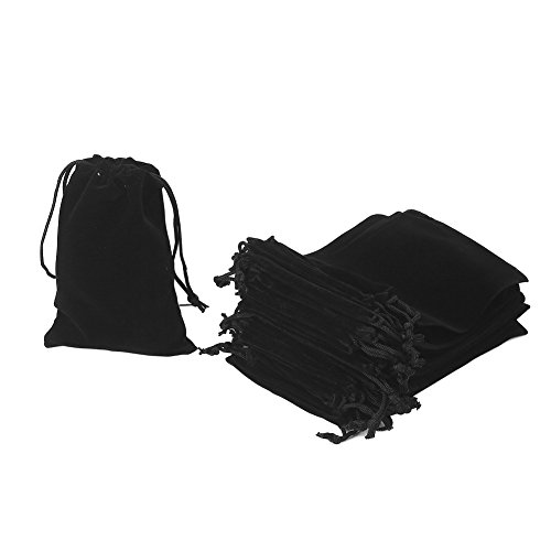 - HRX Package 20pcs Velvet Drawstring Bags, 4.7
