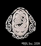 14k White Gold Small Mat Cauthon's ™ Signet Ring Officially Licensed Robert Jordan Wheel of Time ® Jewelry