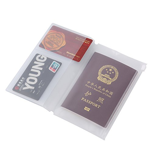 (3 Pack)Transparent Multifunctional Plastic Traveler's Notebook Refill Personal Size Fit Passport With 2 Card Slots,Invocice/Paper/Note Zipper Pocket.