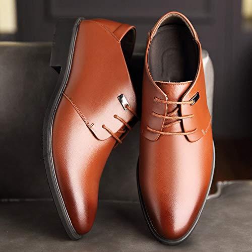 Marrone scarpe da con in pelle uomo Scarpe WFL pelle in marroni in d'affari scarpe estate scarpe da da nere pelle da sera uomo uomo wqg0xT0p7