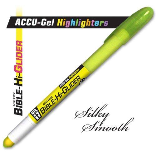 1 X Highlighter ACCU Gel Bible Hi Glider Yellow