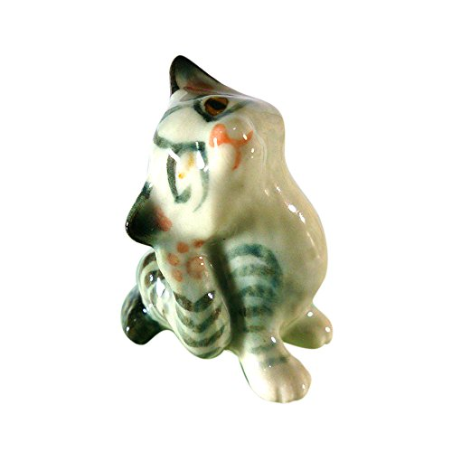 Sansukjai Cute Cat Ceramic Hand Painted Animals Collectible Gift Home (Cute Homemade Halloween Party Invitations)