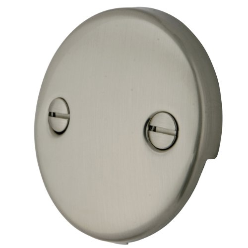 Kingston Brass DTT108 Bath Tub Overflow Plate, Satin (Satin Nickel 2 Hole)