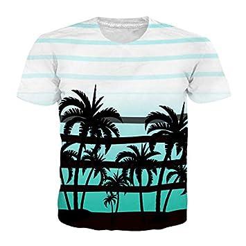 GJCDGPZTX Camiseta con Estampado De Flamencos Hombres Mujeres Playa De Manga Corta Camisetas De Verano Camiseta Floral 3D Hombre Camisetas De Hombre Hombre