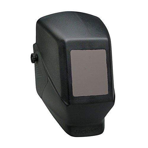 KIM CLARK 15134 Jackson Safety JHSL100 Shade 10 Passive Welding Helmet, 4 1/2'' x 5 1/4'' Fixed Front, Black