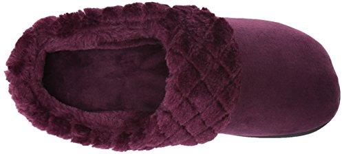 Velour Women's Aubergine Clog Quilted Pilecuff Dearfoams w 75qxnd5