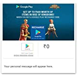 Get Upto Rs.600 worth of Items in Rise Of Kingdoms||Google Play Gift Code - Digital Voucher
