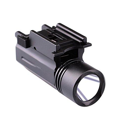 Handgun Lights Handgun Scope Pistol Lights Pistol Scope Sights LED Strobe Flashlight Lights foPistol Weaver/Picatinny Rail 20mm QD Mount