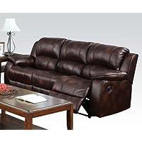 Acme 50510 Zanthe Motion Sectional Sofa, Brown Polished Microfiber