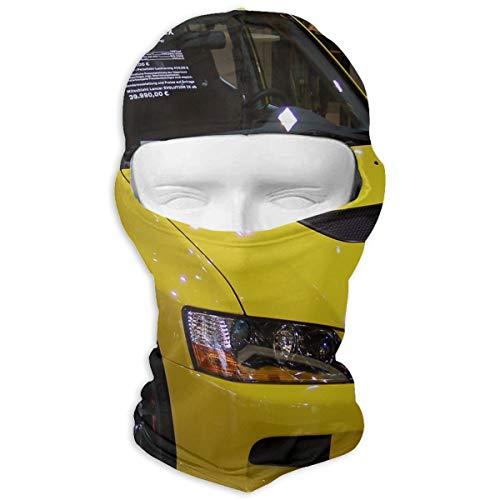 Balaclava Evolution of Yellow Mitsubishi Full Face Masks UV Protection Ski Hat Mask Motorcycle Neck Warmer Hood for Cycling Snowboard Women Men Youth ()