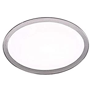 Master Chef Ceramic Dotted Oval Plate - 1 Piece
