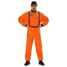 Large Adult's Orange Astronaut Costume