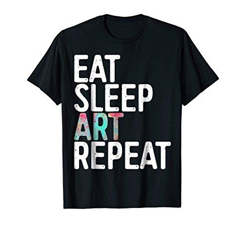 Birthday Humor Womens Cap - Eat Sleep Art Repeat T-Shirt Funny Artist Creative Gift