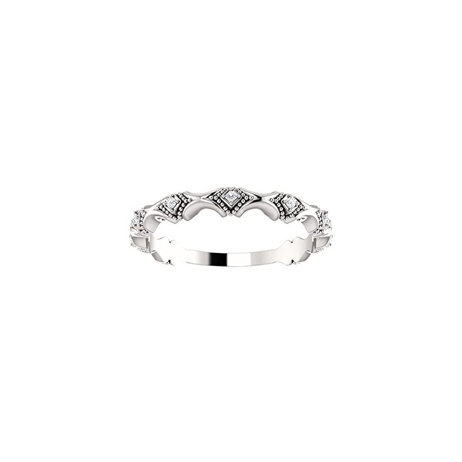 0.30 ct Ladies Round Cut Diamond Anniversary Band in 14 kt White Gold