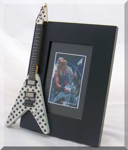 ZAKK WYLDE Miniature Guitar Photo Frame Polka Dots