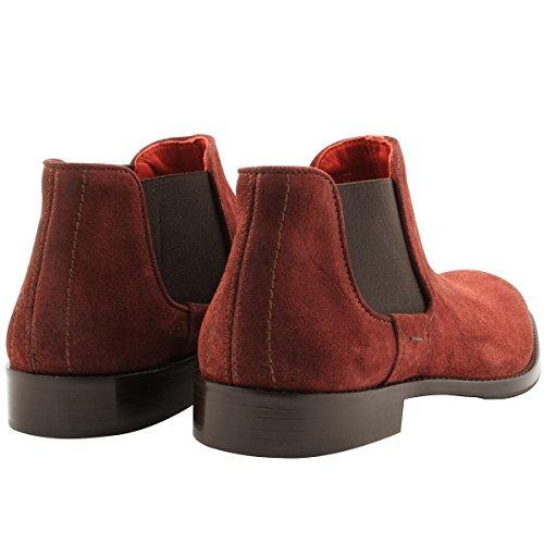 Exclusif Paris Men's Boots Burgundy fhlhpZIDQ