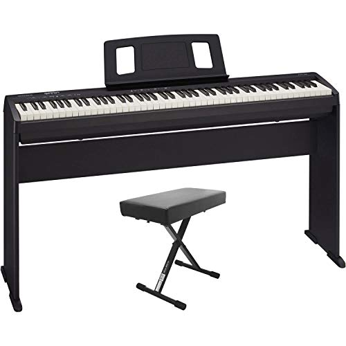 Roland FP-10-BK 88-note Digital Piano with KSC-FP10-BK Stand and Bench