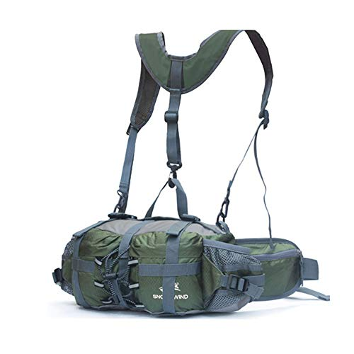 J-Jinpei Multifunctional Water Resistant Outdoor Waist Pack Backpack Shoulder Bag Daypack with Water Bottle Pockets Waist Bag Fanny Pack for Running Hiking Camping Cycling Traveling Sports Climbing 5L