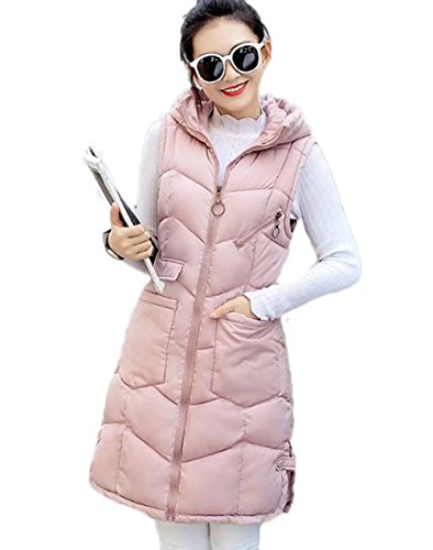 ガラガラオールあらゆる種類のYINGCANレディース フード付き ダウンベスト 厚手 軽量 ノースリーブ ダウンコート 無地 韓国風 ファッション アウター