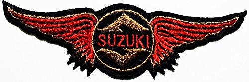SUZUKI wing Motorcycle Motocross Motogp Biker Racing logo patch Jacket T-shirt Sew Iron on Patch Badge Embroidery
