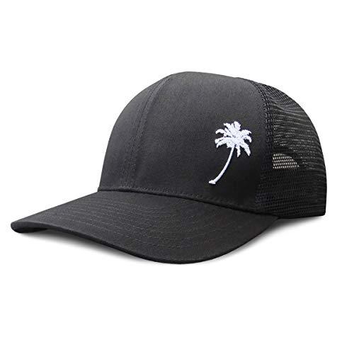 Grace Folly Trucker Hat for Men or Women- Many Cool Designs (Palm Tree- Black) -