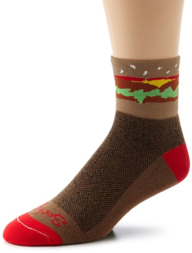 SockGuy Men's Hamburger Time Socks, Brown, Sock Size:10-13/Shoe Size: - 2012 Fashion Mens