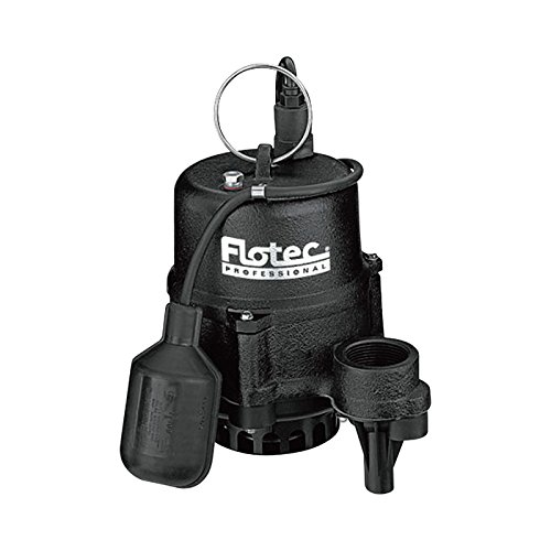 Flotec Cast Iron Effluent Pump - 1 1/2in. Discharge, 3360 GPH, 1/2in. Solids Capacity, 1/3 HP, Model# (Flotec 1/2 Hp Cast Iron)