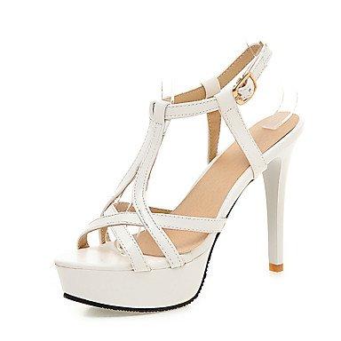 RainbowElk Women's Sandals Summer Fall Club Shoes PU Wedding Office & Career Dress Stiletto Heel Buckle, blushing pink, ()
