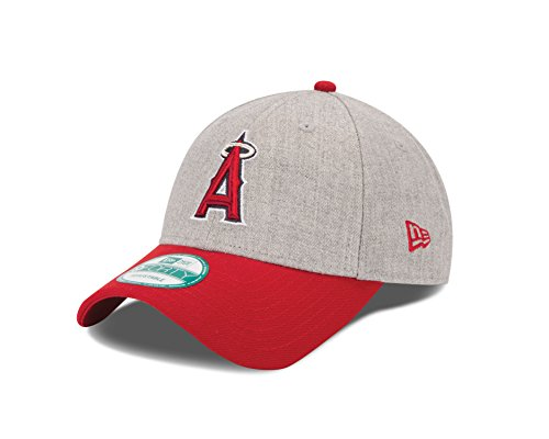 fan products of MLB Los Angeles Angels The League Heather 9FORTY Adjustable Cap, One Size, Gray