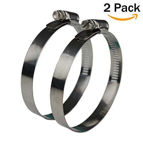 Ronteix Full 304 Stainless Steel Adjustable Worm Drive Hose Clamp (70-89mm) Stainless Steel Duct Hose Clamp