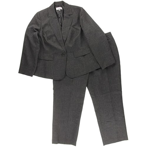 Le Suit Women's Plus-Size 1 Button Matched Papel Pant Suit, Black/Multi, 16W