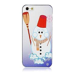 El patrón de nieve de Navidad de plástico de nuevo caso de iPhone 5/5S