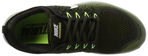 Nike Free RN Distance 2, Scarpe da Corsa Uomo Multicolore (Legion Green / White / Palm Green / Black)
