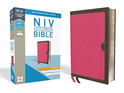 NIV, Thinline Bible, Compact, Leathersoft, Pink/Brown, Red Letter Edition, Comfort Print ()