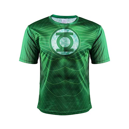Cool Graphic Tee Green Lantern Short Sleeve Polyester Shirts 2XL