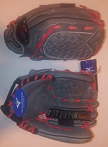 "Mizuno GPP1150Y2GYRD 11.5"" Prospect Series Youth Grey/Red Baseball Glove New!"