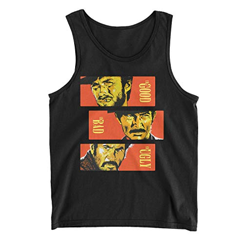 Zinko Men's The Good, The Bad and The Ugly Tank Top (S, Black) -