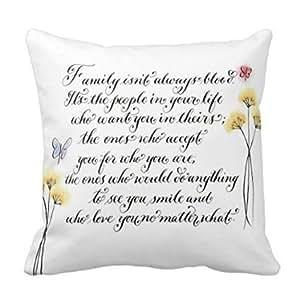 Kieffer shop word 18*18 inch cotton pillowcase