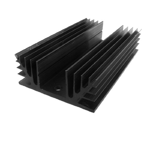 uxcell Black Aluminum Heat Sink Heatsink for Three Phase Solid State Relay ()