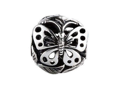 Silverado Ms601Argent sterling focal Papillon # 1perle/Charm