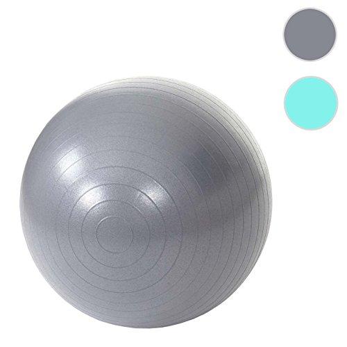 Ballon de gymnastique Lamego, ballon suisse, ballon de yoga / fitness, Ø 65cm ~ gris