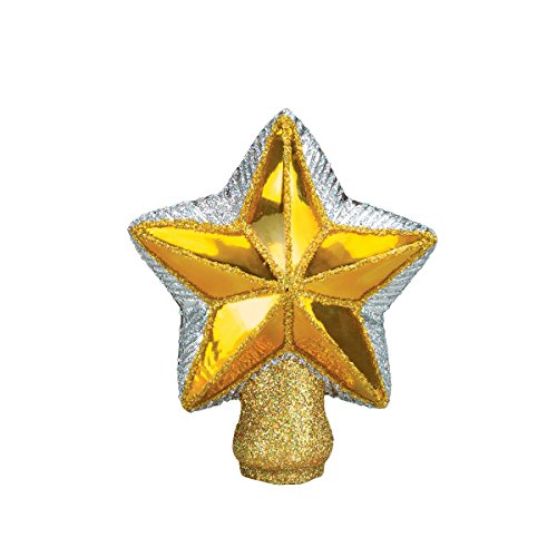 Old World Christmas Small Star Tree Top Glass Blown Ornament