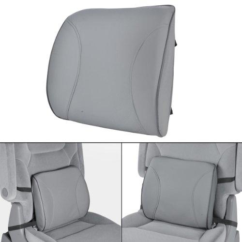 BDK BS-300-GR Durable Foam Lumbar Support 3D Balanced Firmness Cushion-Lower Back Pain Relief-Best for Office Chair, Car…