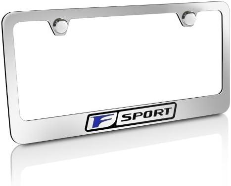 CarBeyondStore Lexus Blue F-Sport Chrome Metal License Plate Frame