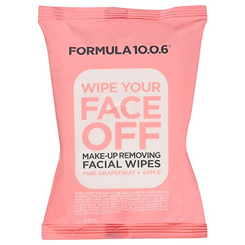 Formula 10.0.6 Wipe Your Face Off Make-Up Removing Facial Wipes (25 wipes per package)