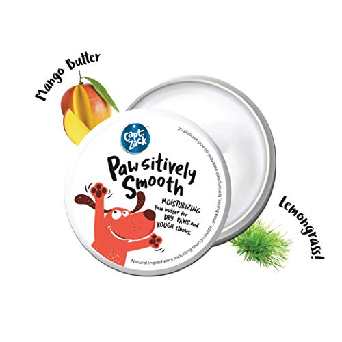Captain Zack - Pawsitively Smooth Paw Butter, Soft Cream for Dogs with Cracked and Chapped Paws. Natural Moisturizer for All Breeds, Fragrance and Paraben Free - 25 Grams