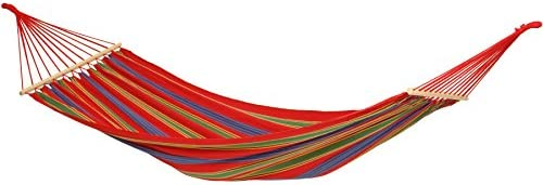 BYER OF MAINE Aruba Outdoor Hammock, Woven from Weather-Resistant EllTex Polyester Cotton Blend, Single Sizet EllTex Polyester Cotton Blend, Single Twin Size, Cayenne