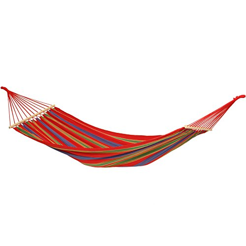 Byer of Maine Aruba Outdoor Hammock, Woven from Weather-Resistant EllTex Polyester/Cotton Blend, Single Sizet EllTex Polyester/Cotton Blend, Single/Twin Size, Cayenne