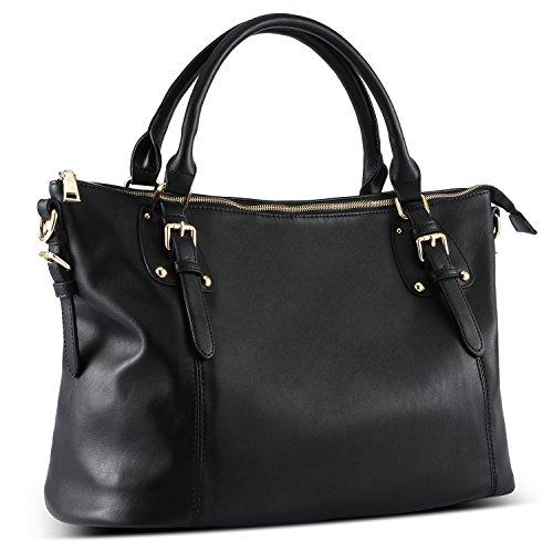Faux Leather Tote Handbag - 9